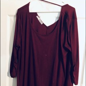 GUC Maurices Plus Size 2 Wine Sweater